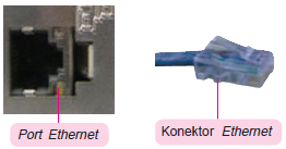 Port dan konektor Ethernet