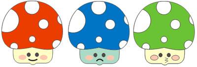 Gambar kartun jamur lucu yang akan kita buat bersama